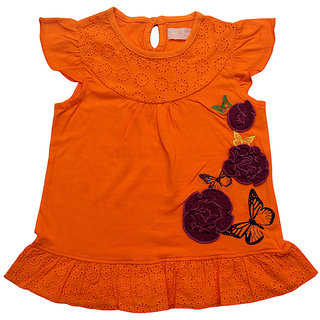 JusCubs Tunic With Flower Embordiry
