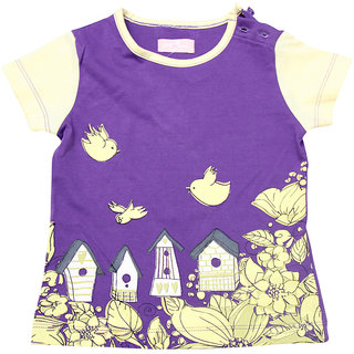 JusCubs Tee- Bird Houses Orange Tee