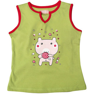 JusCubs Tank- Candy Eater Green Tee