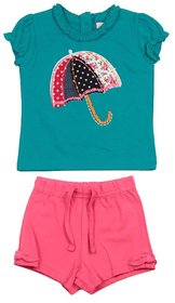 JusCubs Umbrella Shirt With Shorts Green Top