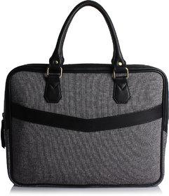 Craft Concepts Mac-Denim Grey Leather Laptop Briefcase