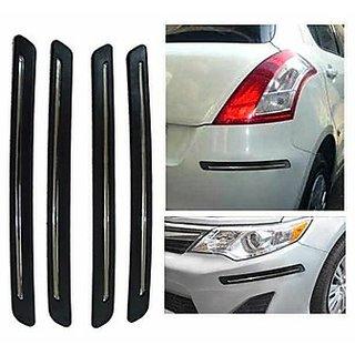 Takecare Universal Bumper Guard - Black For Chevrolet Beat