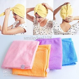 Evershine Set Of 3 Cotton Hair Wrap Fast Drying Dryer Towel Bath Wrap Twist Quick Dry Head