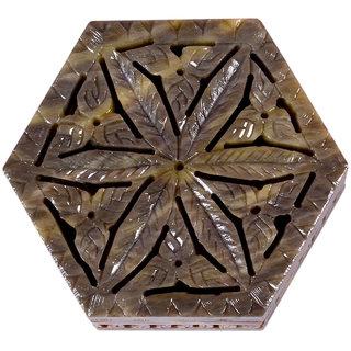 Avinash Handicrafts Stone Jewellery Box (Hexagonal) 4x4x15 inch Carved