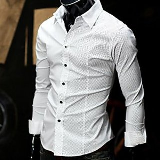 White Cotton Designer Shirt For Men: Buy White Cotton Designer ...