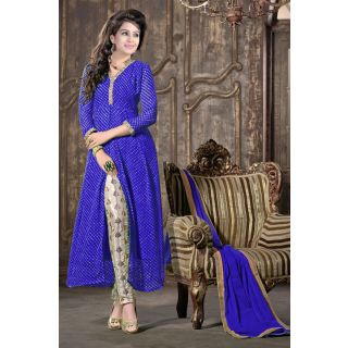 Fabulous Blue Semi Stitched Party Wear Straight Pant EBSFSK17703G