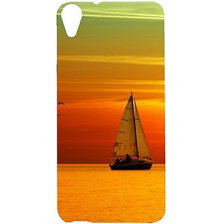 Casotec Sunset Ship View Design Hard Back Case Cover For Htc Desire 820