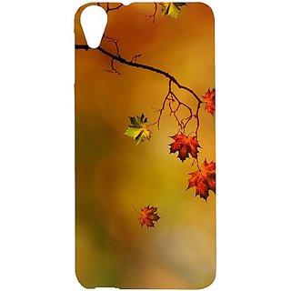 Casotec Colorful Leaves Print Design Hard Back Case Cover For Htc Desire 820