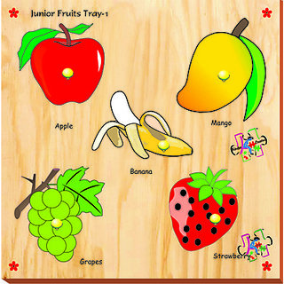 Kinder Creative Junior Fruits With Knobs (5 Pieces)