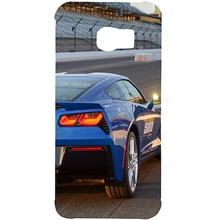 Casotec Car On Racing Track Design Hard Back Case Cover For Samsung Galaxy S6