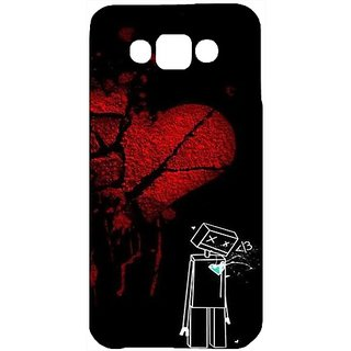Casotec Broken Heart Design Hard Back Case Cover For Samsung Galaxy E7