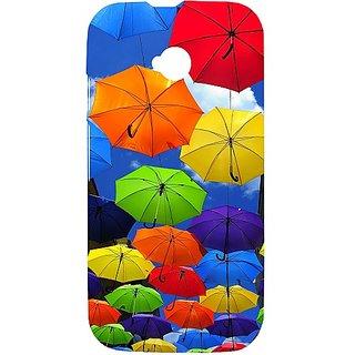 Casotec Colorful Umbrellas Design Hard Back Case Cover For Motorola Moto E 2Nd Generation