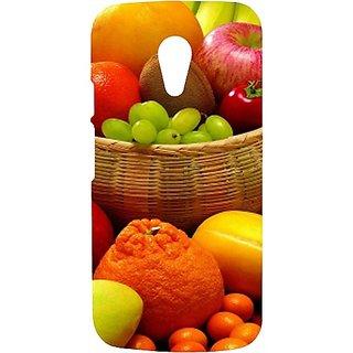 Casotec Fruit Basket Design Hard Back Case Cover For Motorola Moto G 2Nd Gen