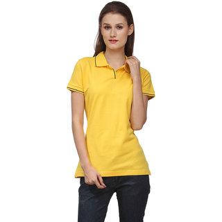 Scott International Red Plain Polo Tshirts For Women