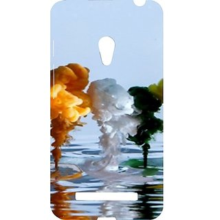 Casotec Paint Water Liquid Design Hard Back Case Cover For Asus Zenfone 5 A500Cg