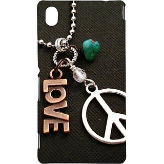 Casotec Love And Peace Design Hard Back Case Cover For Sony Xperia M4 Aqua