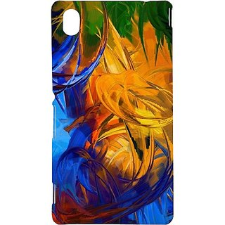 Casotec Abstract Painting Design Hard Back Case Cover For Sony Xperia M4 Aqua
