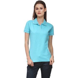 Scott International Black Plain Polo Tshirts For Women