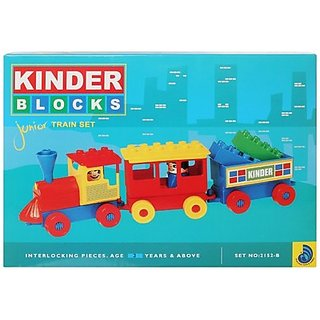 Peacock Kinder Blocks-Junior Train Set