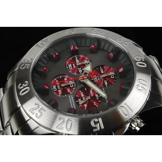 Android Tunnelgraph AD693BR 50MM Chronograph Burgundy Dial Men's S.Steel Watch