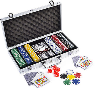 Casinoite Diced Poker Chip Set Without Denomination 300 Toy