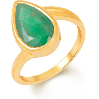 Kundali Emerald (Panna) 18Kt Gold Gemstone Ring