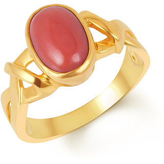 Kundali Coral (Munga) 18Kt Gold Gemstone Ring