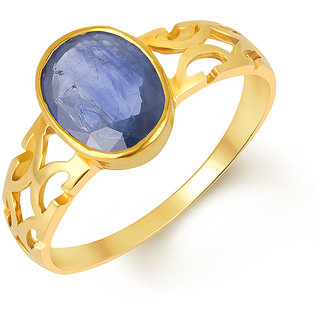 Kundali Blue Sapphire (Neelam) 18Kt Gold Gemstone Ring