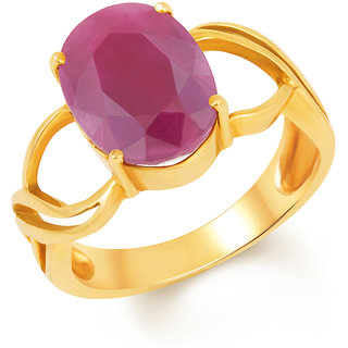 Kundali Ruby (Manik) 18kt Gold Gemstone Ring