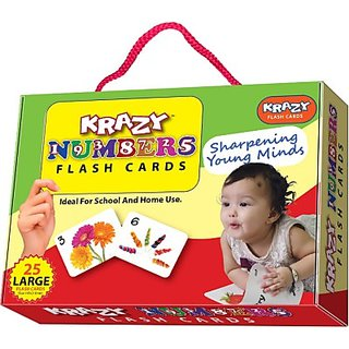 Mind Wealth Krazy Numbers Flash Cards (Orange Red Green)