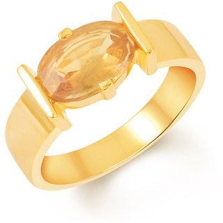Kundali Yellow Sapphire (Pukhraj) 18Kt Gold Gemstone Ring