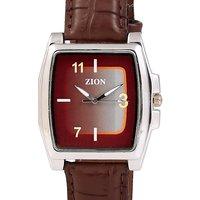 Zion MenS Brown Watch