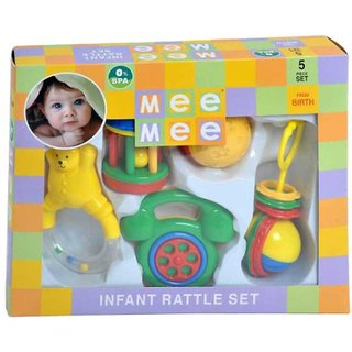 Mee Mee Rattles Set Multi Color (5 Piece)