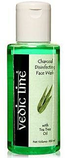 Vedic Line Disinfecting Face Wash - Charcoal With Tea Tree Oil 100Ml