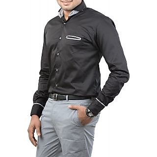 Unkonventional Techno Black Casual Shirt