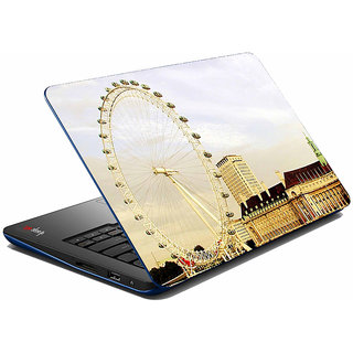 meSleep Beige Wheel City Laptop Skin