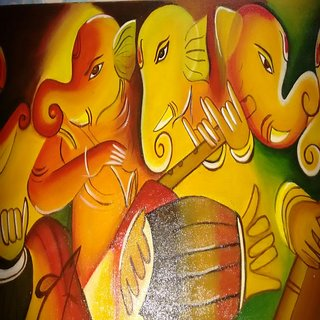 Ganesha with instrument's