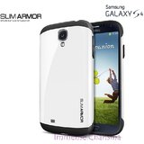 Samsung Galaxy S4 I9500 SPG SPIGEN Slim Armor Back Case Cover Hybrid WHITE COLOR