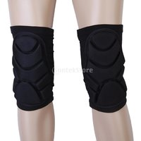 1pair Foam Padded Ski Sport Knee Guard Support Protector Brace Wrap Band Volleyball Basketball - L