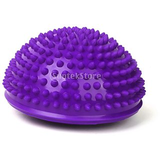 Footful 1pc Spiky Massage Hemisphere Foot Sole Massage Balancing Ball Purple