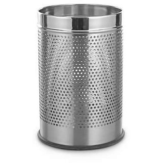 Stainless Steel Perforated Open Dustbin- 5 litre (7x10)