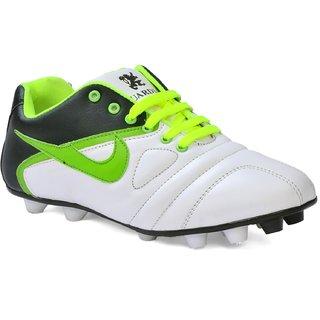 2d0429b4effba1 Buy Shooz White Green Stud Training Shoes Online   ₹1299 from ShopClues