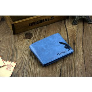 Playboy Men's Wallet Original Genius Leather Blue Color