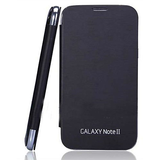 Callmate NFC Flip Case For Note 2 N7100 With Screen Guard - Black
