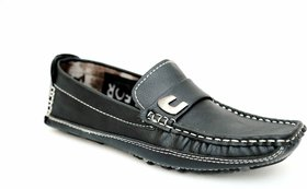 See Green Black Driving Loafers