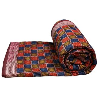 Marwal Multi Colour Jaipuri Hand Made Block Print  Double Bed Quilts