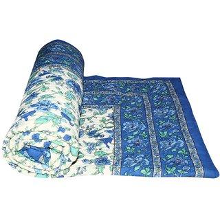 Marwal Blue Jaipuri Hand Made Block Print  Singal Bed Quilts