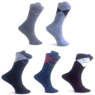 Pack of 5 Half Argyle Socks for Men