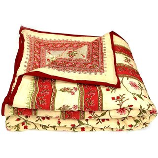 Marwal Jaipuri Hand made block print  Double bed Quilts