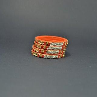 Designer Lac Bangles Orange